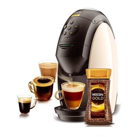 tea maker machine nescafe mycafe gold cappuccino latte sparkling coffee