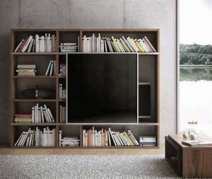 47 idees deco de meuble tv With meuble pour cacher tv