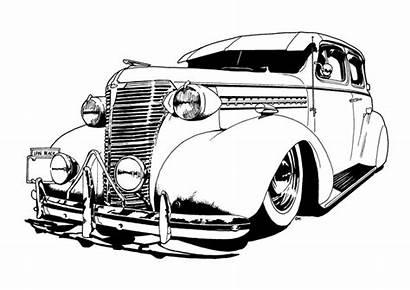 Lowrider Coloring Drawings Cars Classic Cartoons Cartoon
