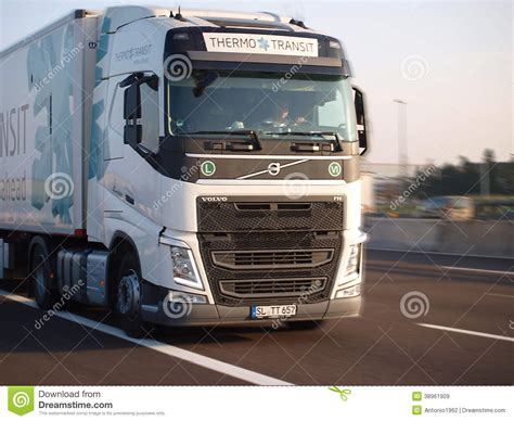 brand new volvo semi truck brand new volvo fh truck editorial stock image image