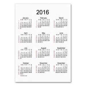 2016 Calendar with Week Numbers Printable