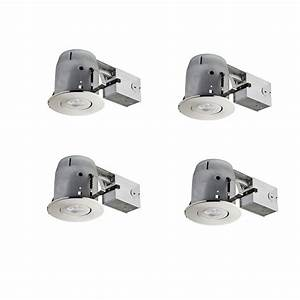Globe electric in brushed nickel led ic rated swivel