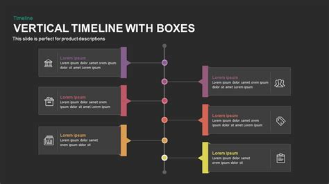 vertical timeline powerpoint template  keynote  boxes