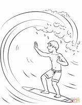 Surfing Coloring Boy Pages Printable Printables Surf Supercoloring Drawing Boys Cartoons Sketches Frog Categories Open sketch template