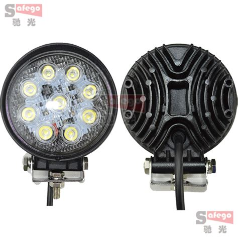 atv off road lights 2pcs 4 inch 27w led work lamp 12v 24v flood beam 4x4 off