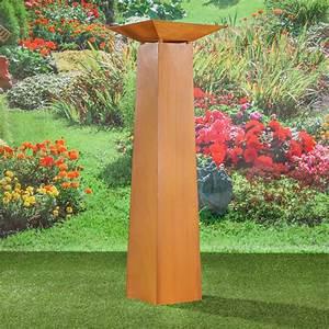 Decoration Jardin Metal : colonne d coration jardin en m tal galvanis couleur rouille ~ Teatrodelosmanantiales.com Idées de Décoration