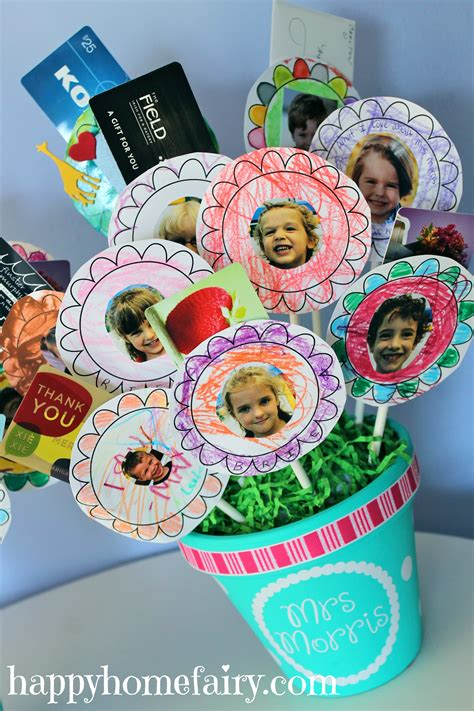 gift card bouquet   teacher happy home fairy