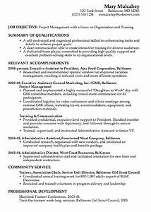 combination resume sample project management With how to write a combination resume