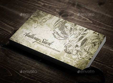 tattoo business card templates  word psd eps