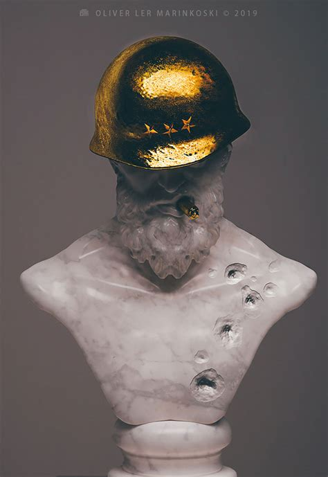 artist creates  sculptures  ancient deities