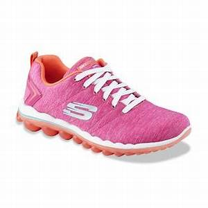 Skechers Women s Sweet Life Neon Pink Orange Athletic Shoe