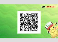 USUM I Choose You Pikachu EU US 3DS QR Codes for Gen 7