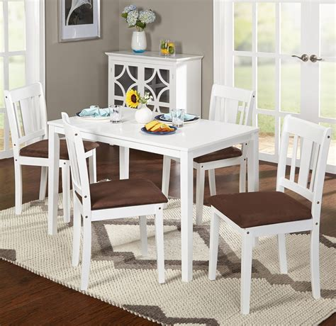 minimalist white  piece dining set  small spaces
