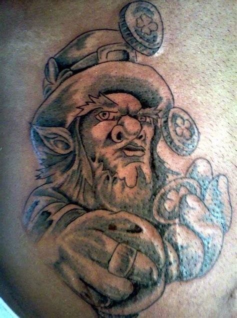 good luck irish leprechaun tattoos