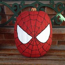 My Spiderman Painted Pumpkin Spiderman Pumpkin