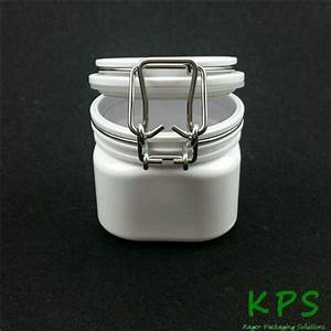180ml Plastic Clear Pet Wire Bale Jars With Hinged Lids
