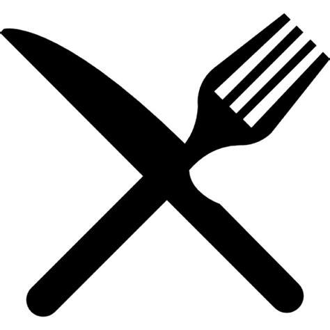 cuisine concept plus fourchette et couteau en croix télécharger icons