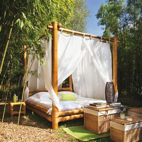 Backyard Bedroom by Outdoor Canopy Beds
