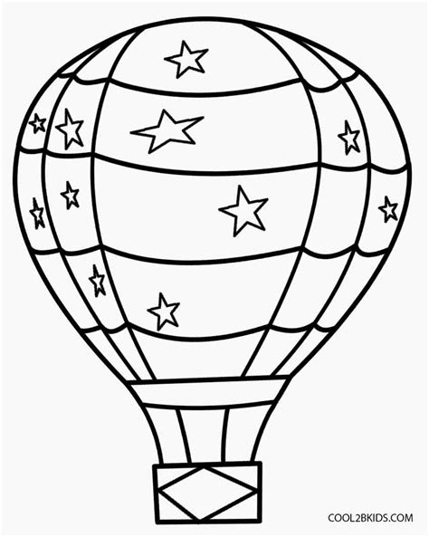 balloon coloring pages printable air balloon coloring pages for cool2bkids