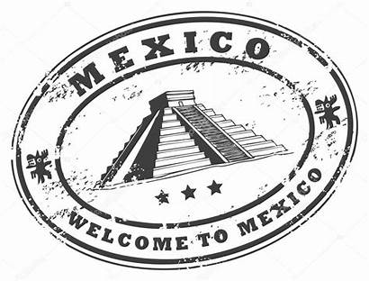 Mexico Stamp Mexican Vector Mexicano Caribbean Illustration
