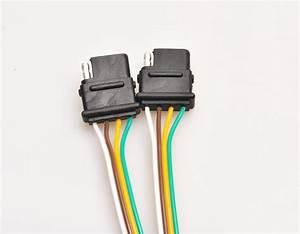 4 Way Trailer Wiring Harness W   Standard 4 Pin Flat
