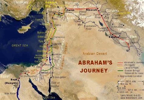 abrahams journey bible land maps   creaturesorg