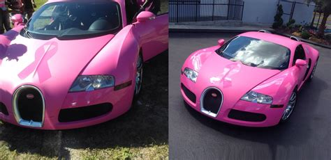 Bugatti Pink Celebritycelebrity Cars Collections