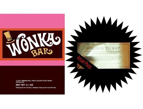 custom creations party place   wonka bars