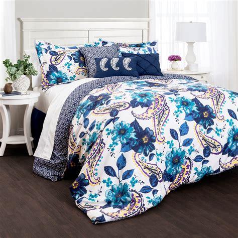 lush decor floral paisley 7 piece comforter set bedding