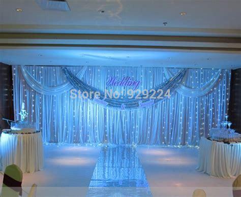 3m 6m wedding stage backdrop with beatiful swag wedding