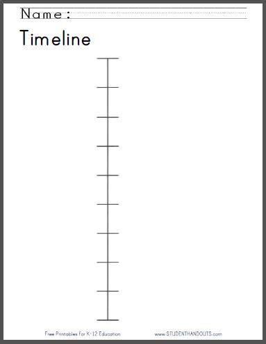 timeline worksheet   print student handouts