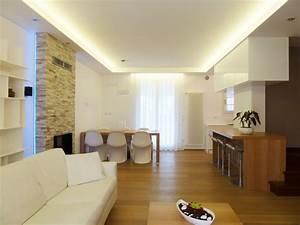 Abbassamento soffitto moderno : Illuminazione soggiorno controsoffitto idee per il