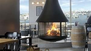 Poele Suspendu Design : poele bois suspendu cheminee design edofocus ~ Melissatoandfro.com Idées de Décoration