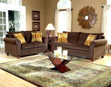 chocolate brown  grey living room design decor blue