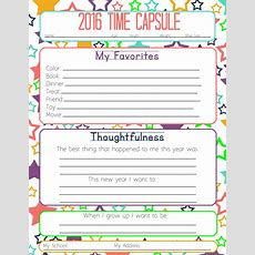 New Years Resolution & Time Capsule Worksheets And Activities For Kids  Tips From A Typical Mom