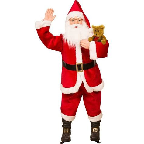 nib life size animated santa claus 5 ft singing talking