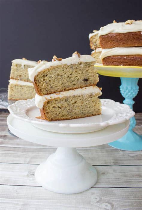 banana cake  brown sugar cream cheese frosting sugar