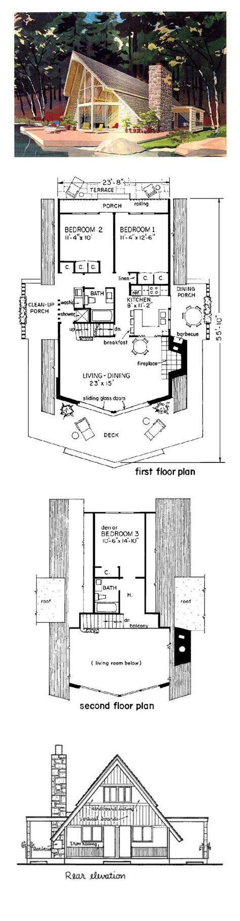 a frame cabin floor plans a frame cabin contemporary house plan 43048