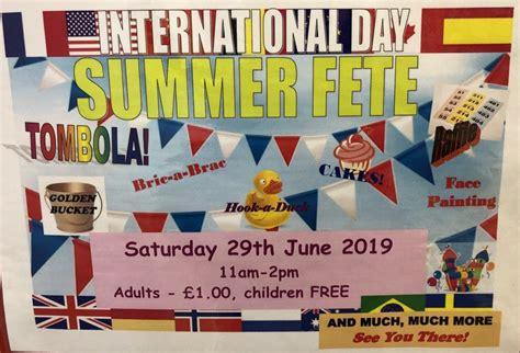 saturday summer fete international day shaftesbury park