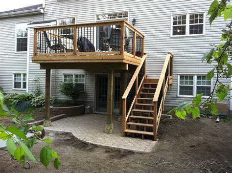 unique  story deck designs home plans blueprints