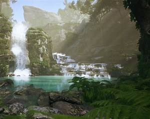 Jungle, Paradise, By, Georgegarton, For, 3d, Environment, Art