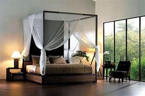 Chambre Ambiance Zen : lit baldaquin pour chambre en 50 images int ressantes ~ Zukunftsfamilie.com Idées de Décoration
