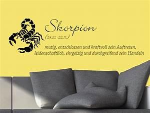 Was Für Ein Sternzeichen : wandtattoo sternzeichen skorpion bei ~ Markanthonyermac.com Haus und Dekorationen