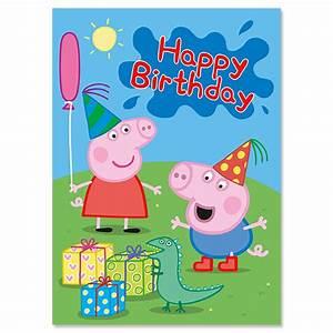 Peppa Pig & George Birthday Card - Party Ark