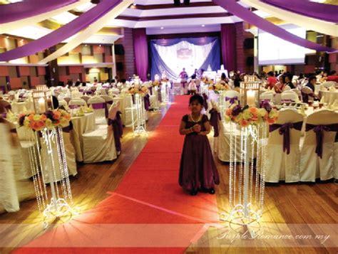purple white wedding decoration banquet royal lake club kl purple event
