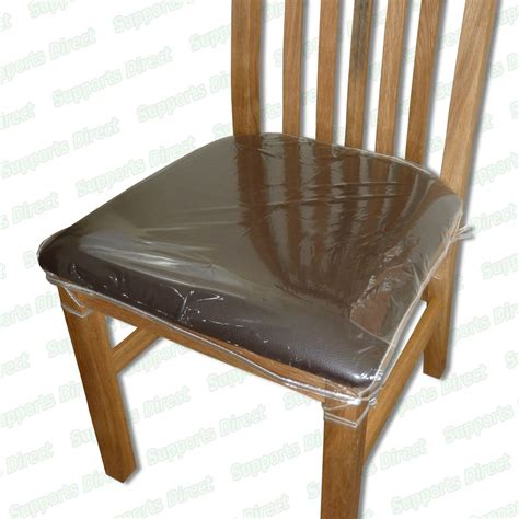 protection chaise dining chair protectors clear plastic cushion seat