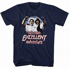 Bill And Ted Shirt Be Excellent Adventure Navy Tee Tshirt