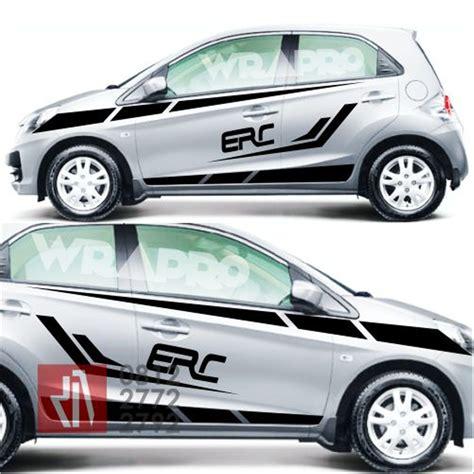 Cutting Sticker Mobil by Modifikasi Stiker Mobil Honda Brio Modifotto