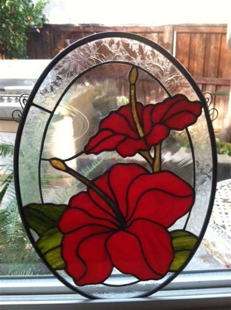 115 best images about Stained Glass Hawaiian Flowers on Pinterest Stained glass kits