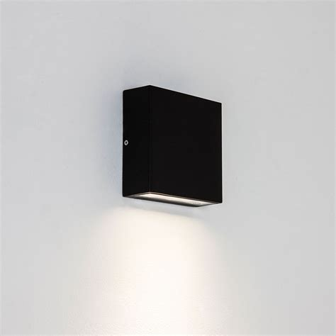 astro elis single black outdoor led wall light at uk
